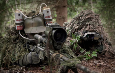 Funny military sniper.