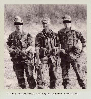 Tom (MILPICTURES) with two other enemy performer during a combat excercise.