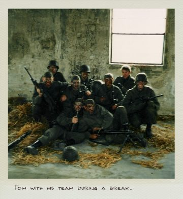 Tom (MILPICTURES) with his squad during a break at close combat training.