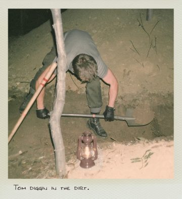 Tom (MILPICTURES) diggin in the dirt during a guerrilla warfare training in 1985.