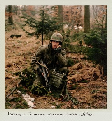 Tom (MILPICTURES) in 1986 during a 3 month training course.