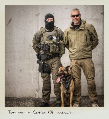 Tom (MILPICTURES) with Cobra K9 handler.