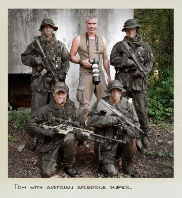 Tom (MILPICTURES) with austrian airborne sniper.