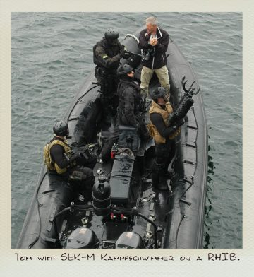 Tom (MILPICTURES) with german SEK-M Kampfschwimmer on a RHIB.