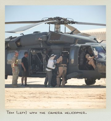 Tom (MILPICTURES) with the camera helicopter.
